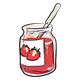 Strawberry Jam with knife