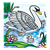 White Swan Color PNG
