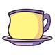 Teacup purple and yellow