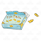 Blue Box of Fish Crackers