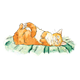 Orange Cat Sleeping lying on pillow