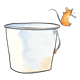 Silver Pail with mouse jumping out