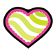 Green-Striped Pink Heart