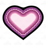 Pink and Purple Heart
