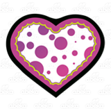 Purple Polka-Dotted Heart