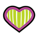Green-Striped Heart