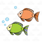 Orange and Green Fish