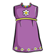 Purple Dress with beads and white flowers