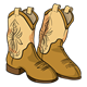 Cowboy Boots brown with tan design
