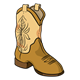 Cowboy Boot brown with tan design
