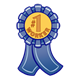 Number 1 Worker Ribbon incentive award