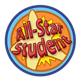 All-Star Student incentive award, has blue background