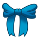 Blue Bow tied in a knot