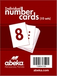 Individual Number Cards Package of 10 Sets Thumbnail