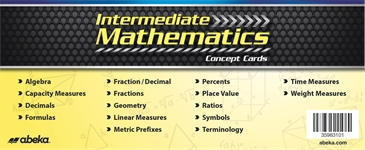 Intermediate Mathematics Concept Cards Thumbnail