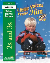 Little Voices Praise Him 2s & 3s Take-Home Papers