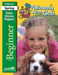 Following After God Beginner Take-Home Papers