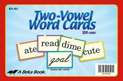 Two-Vowel Word Cards