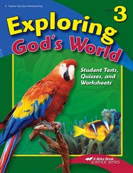 Exploring God's World Quiz, Test, and Worksheet Key