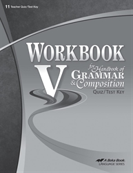 Workbook V Quiz and Test Key