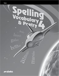 Spelling, Vocabulary, and Poetry 4 Test Book