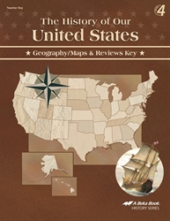 The History of Our United States Geography Maps and Reviews Key