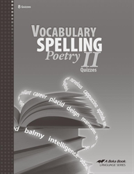 Vocabulary, Spelling, Poetry II Quiz Book