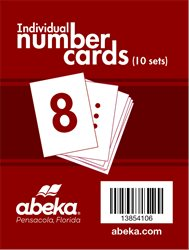 Individual Number Cards Package of 10 Sets