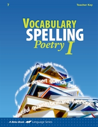 Vocabulary, Spelling, Poetry I Teacher Key/Poetry CD