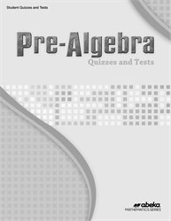 Pre-Algebra Quiz and Test Book