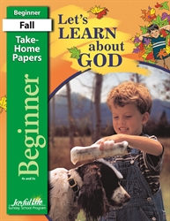 Lets Learn About God Beginner Take-Home Papers