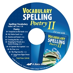 Vocabulary, Spelling, and Poetry II CD (Replacement)