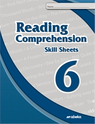 Reading Comprehension 6 Skill Sheets