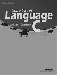 God's Gift of Language C Quiz and Test Key