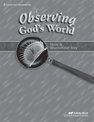 Observing God's World Quiz and Worksheet Key