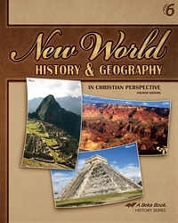 Abeka Product Information New World History And Geography