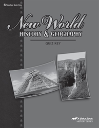 New World History and Geography Quiz Key