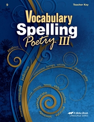 Vocabulary, Spelling, Poetry III Teacher Key