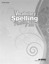 Vocabulary, Spelling, Poetry III Quiz Book