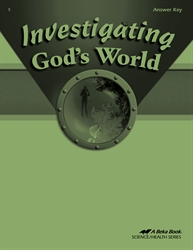 Investigating God's World Answer Key
