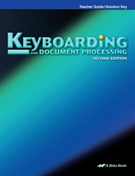 Keyboarding & Document Processing Teacher Guide/Solution Key