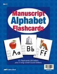 Manuscript Alphabet Flashcards