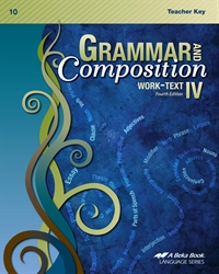 Grammar and Composition IV Teacher Key