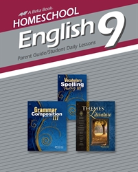 Homeschool English 9 Parent Guide and Student Daily Lessons