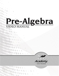 Pre-Algebra Video Manual