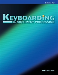 Keyboarding & Document Processing Solution Key