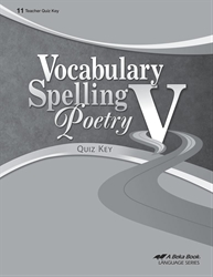 Vocabulary, Spelling, Poetry V Quiz Key