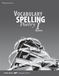 Vocabulary, Spelling, Poetry I Quiz Key