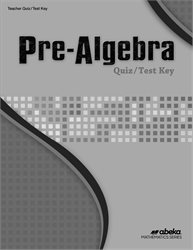 Pre-Algebra Quiz and Test Key