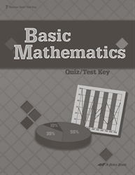 Basic Mathematics Quiz and Test Key